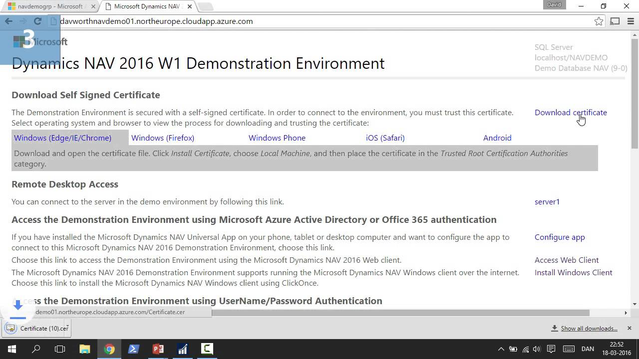 Come Creare Un Ambiente Demo In Microsoft Dynamics Nav Su Azure