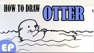 How to Draw an Otter (Cute) - Easy Pictures to Draw