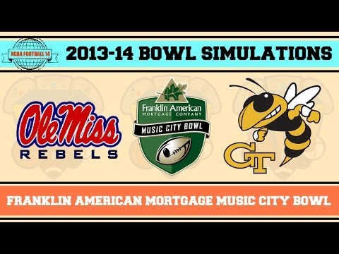 Franklin American Mortgage Music City Bowl (Ole Miss vs Georgia Tech) NCAA Football 14