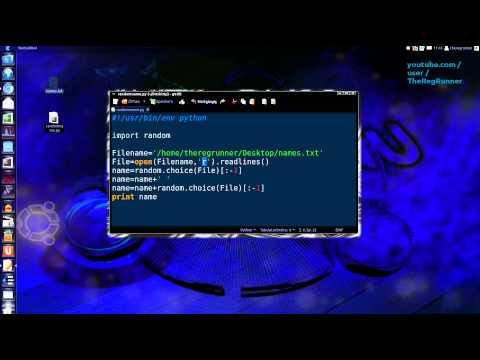 python : random choice - user name generator