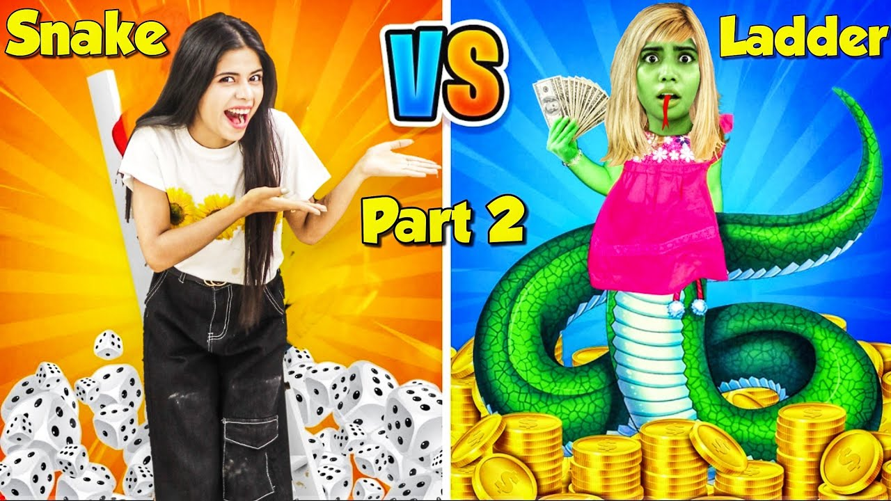 We Played Snakes & Ladder in Real Life!! With *Extreme Dares* Part 2