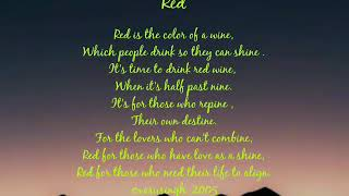 Poem on red colour .