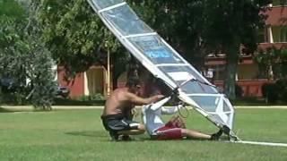 waterstart windsurfing lesson