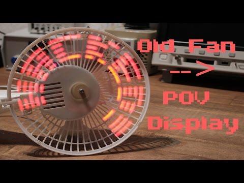 Cómo convertir un ventilador en una pantalla de ledes