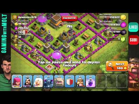 Clash of Clans GoWiPe with healer and Dragon