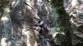 パワフル魂 12.a/b 長崎 野岳 フリー クライミング 比較的リーチのある...