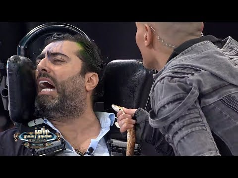 رعب باسم ياخور من تعبان رامز مجنون رسمي ويرد: ياسر جلال احسن ممثل - Ruslar.Biz