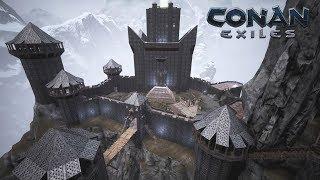 Conan Exiles Epic Base Location - Savage Mountain Castle (Speed Build)