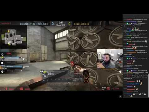 Hackers make MOE_TV cheat on esea games and play in their team.(With twitch chat)