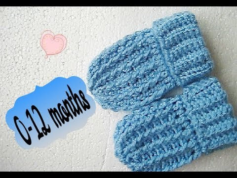 67df9b02d Easy crochet Baby Mittens gloves tutorial mitts 0-12 months Happy Crochet  Club