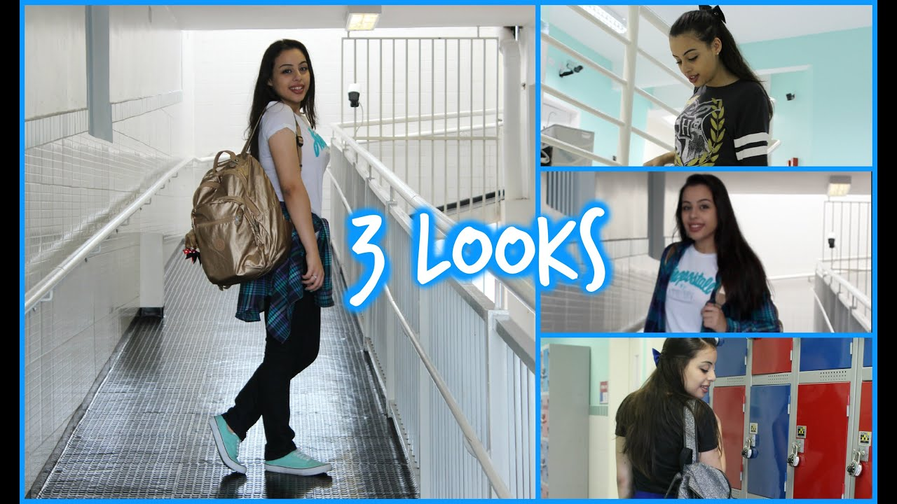 Muito Volta às aulas:3 looks para escola - YouTube TS19