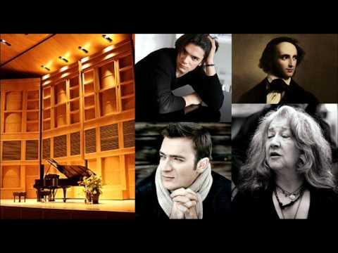Mendelssohn. Piano Trio No. 1 in D minor Op. 49 - I. Martha Argerich & Capuçon brothers