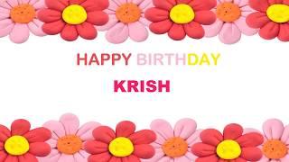 Krish   Birthday Postcards & Postales - Happy Birthday