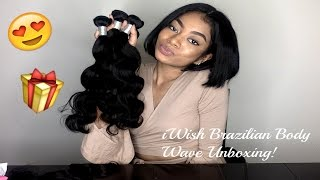 Aliexpress iWish Hair Brazilian Body Wave Unboxing !