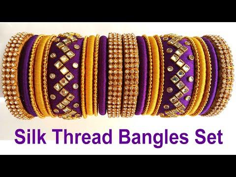 Silk Thread Bangles at Home // Silk Thread Bridal Bangles//Silk Thread Jewellery//Handmade Jewellery