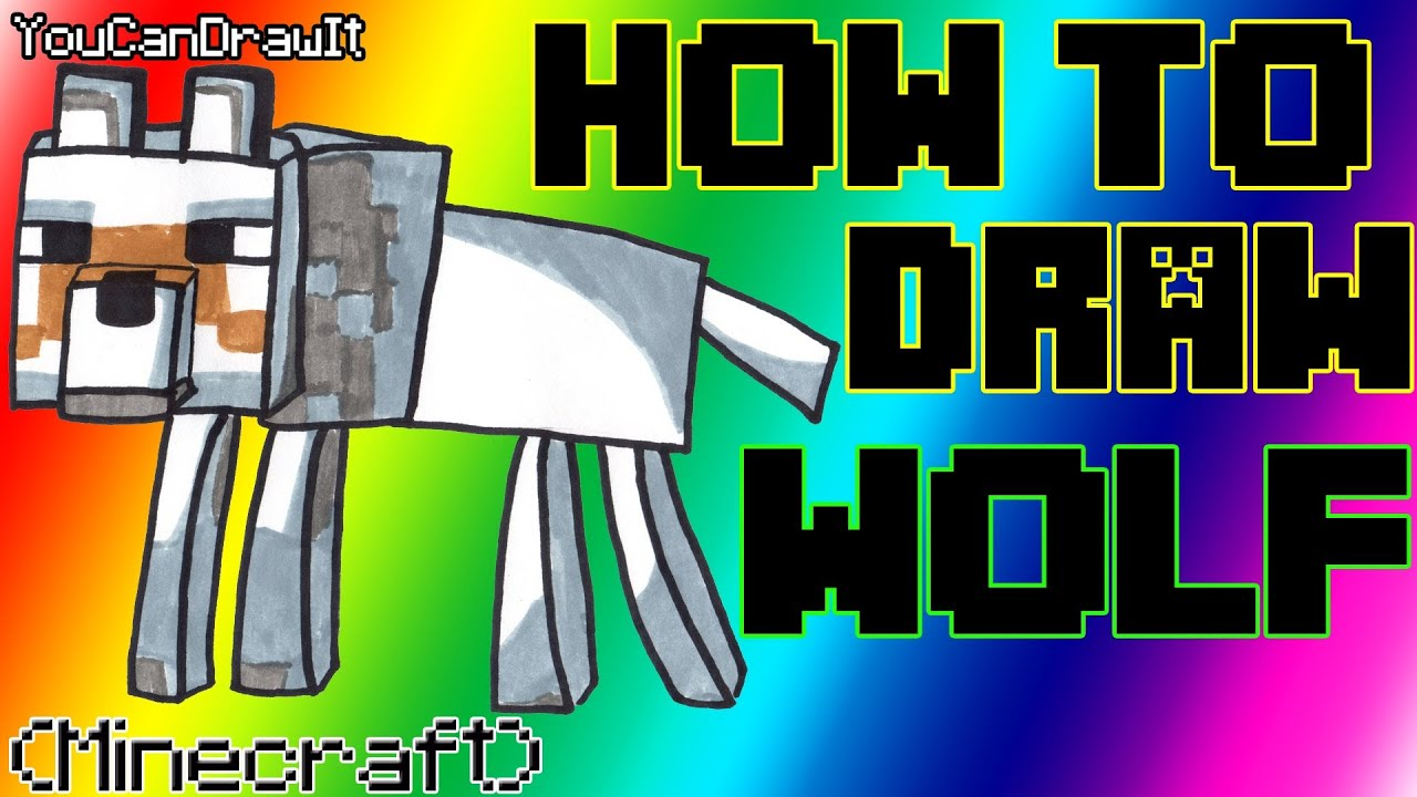 how to draw wolf from minecraft youcandrawit ツ 1080p hd youtube