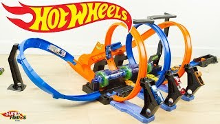 Hot Wheels Piste Looping Infernal Crash Voitures Jouet Toys Mattel