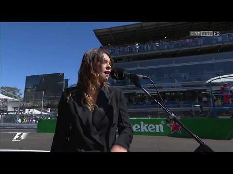 Italian anthem performed by Francesca Michielin (Formula 1 Italian GP 2017)