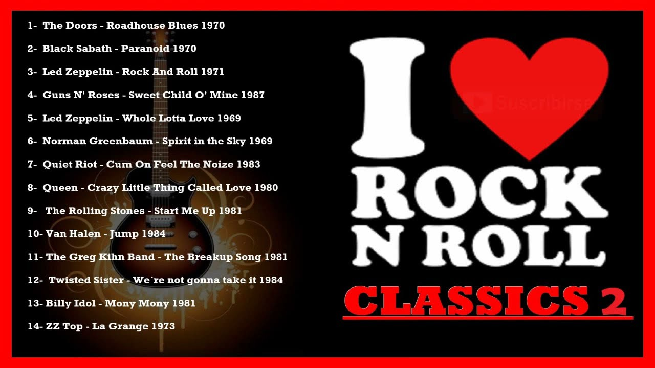 Clásicos Del Rock En Inglés Las Mejores Canciones Del Rock 60s 70s Y 80s éxitos Vol 1 Youtube