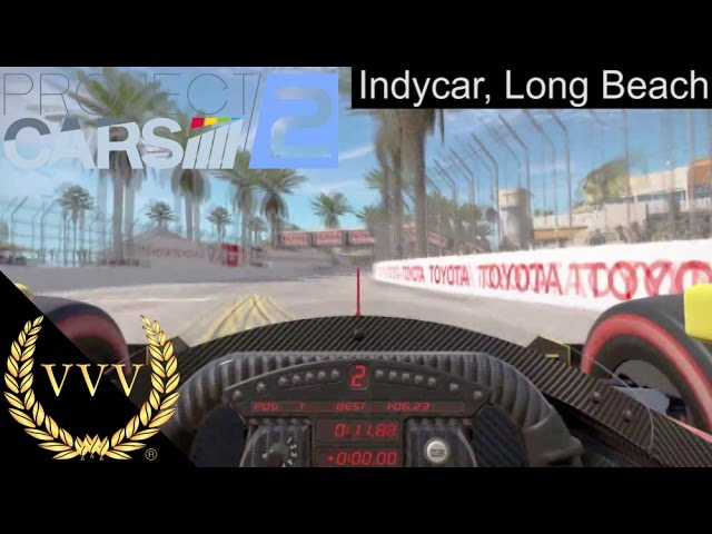 Project CARS 2 - Indycar - Long Beach Controller Gameplay