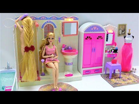 Barbie Rapunzel Shower Time Morning Routine Barbie Rapunzel Duschzeit Morgen Routine