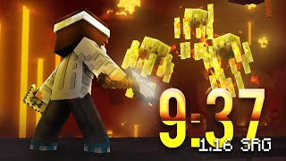A Minecraft Speedrun in less than 10 Minutes on a RANDOM Seed!
