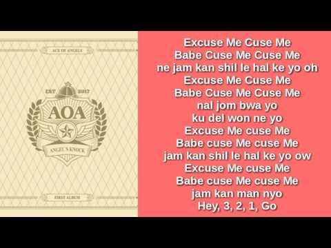 AOA - EXCUSE ME (EASY LYRICS)