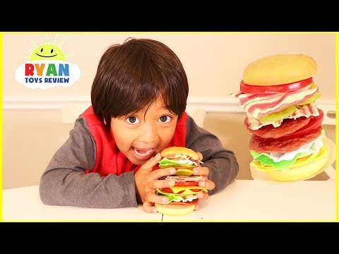 Stackin Burger board game and Egg Surprise Toys for winner!