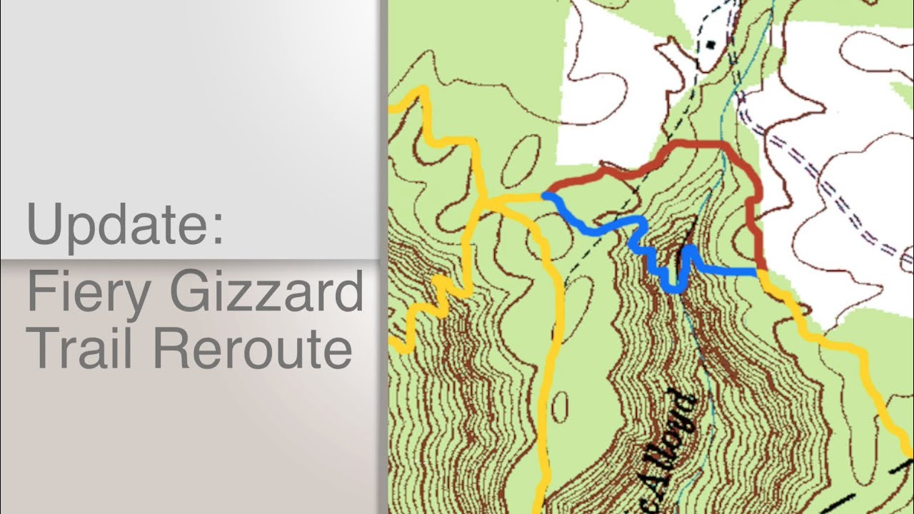 Inspirational Fiery Gizzard Trail Map