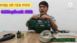 máy xịt rửa zukui-s1 , máy rửa xe mini gia đình giá siêu rẻ