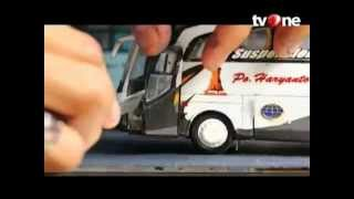 skilas produksi miniatur bis BelangBentong karoseri