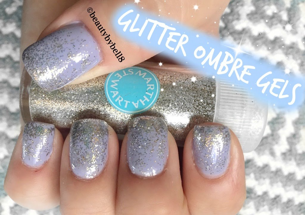 Glitter Ombre Gel Nails - Tutorial - YouTube