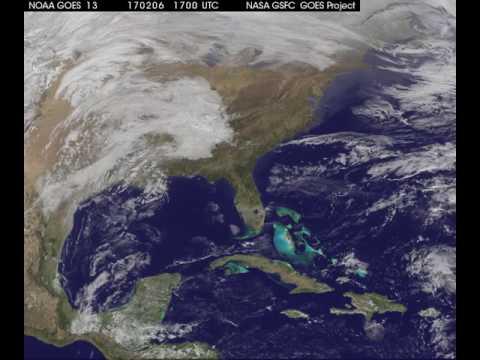 Satellite Views of Severe Storm that Generated Michoud Tornado