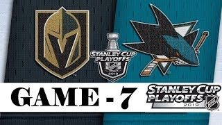 Vegas Golden Knights Vs San Jose Sharks  Apr.23 2019  Game 7  Stanley Cup 2019  Обзор