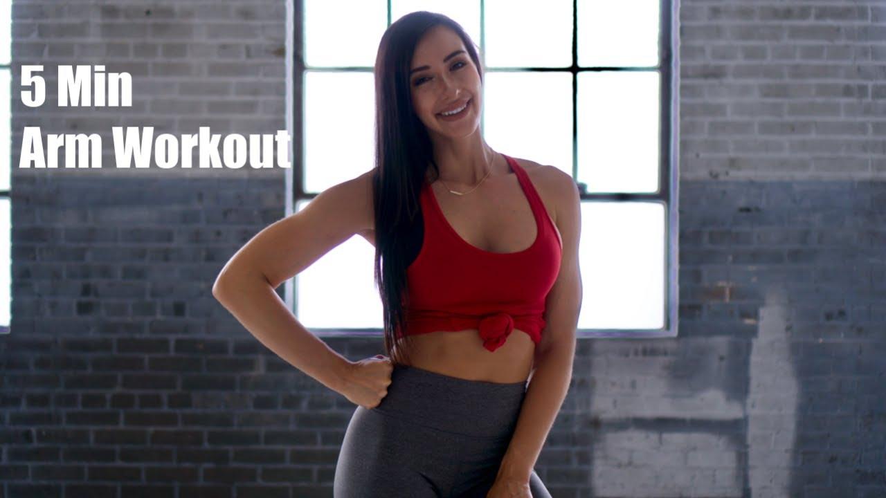 5 Min Arm Workout | No equipment | Follow Along | Arica Sky