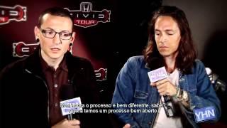 Chester Bennington & Brandon Boyd para o Young Hollywood Network