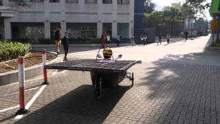 Solar Car Apollon running without battery