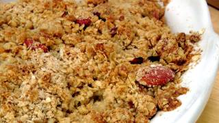 Homemade Peach Crisp - Recipe By Laura Vitale - Laura In The Kitchen Episode  142