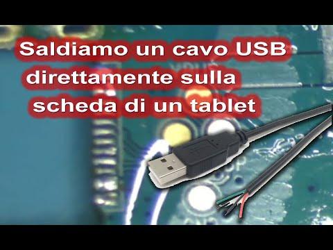 Si può saldare direttamente il cavo USB sulla scheda per ricaricare un tablet o un telefono?