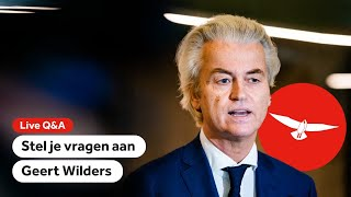 TERUGKIJKEN: Stel je vragen aan Geert Wilders (PVV)