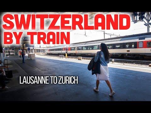 SWITZERLAND BY TRAIN - First Train Trip Lausanne To Zurich
