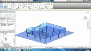 REVIT Basics: How to Draw a House on a pad and also on poles Revit Auto CAD