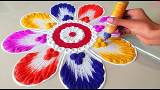 Happy New Year Rangoli designs 2020 New Year Rangoli Designs for 2020 Beautiful Rangoli for 2020