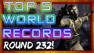 TOP 5 BO3 ZOMBIES WORLD RECORDS!! 87 REVIEVES, ROUND 223!!!