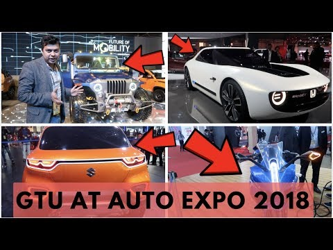 GTUTeam At #AutoExpo2018, Concept Cars, New Bikes, Modified Thar, Electric Cars, #GTUVlog #53