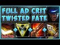 COME ON RIOT! TRIFORCE CRIT TWISTED FATE IS 100% OP! TWISTED FATE S9 GAMEPLAY! - League of Legends