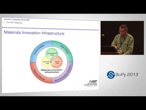 Scientific Computing and the Materials Genome Initiative; SciPy 2013 Presentation