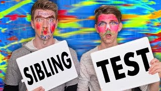 Brothers take the Sibling Test w/ FACE PAINT! Can we get 15000 THUMBS UP??? WIN a MacBook, GoPros & MORE!! Click HERE: http://bit.ly/1N3N9TF New ...