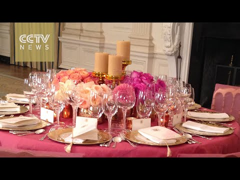 White House staff prepare for state dinner