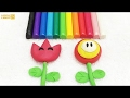 Plasticine Modelling Clay Super Mario Flowers Fun and Creative for Children